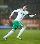 Kyle Lafferty of Northern Ireland during the international friendly match at the Cardiff City Stadium. Photo credit should read: Philip Oldham/Sportimage