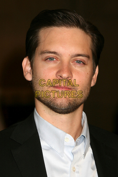 "TOBEY MAGUIRE.Hollywood, California. Atmosphere. Los Angeles Premiere of ""The Good German"" at the Egyptian Theatre, Hollywood, California, USA..December 4th, 2006.headshot portrait stubble facial hair.CAP/ADM/BP.©Byron Purvis/AdMedia/Capital Pictures"
