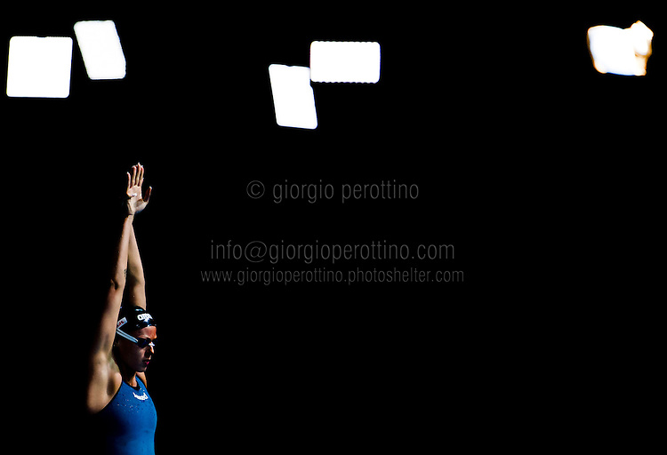 Federica Pellegrini - Team ITALY <br /> Women's 200m freestyle relay final<br /> 15th FINA World Aquatics Championships<br /> Palau Sant Jordi, Barcelona (Spain) 01/08/2013 <br /> © Giorgio Perottino