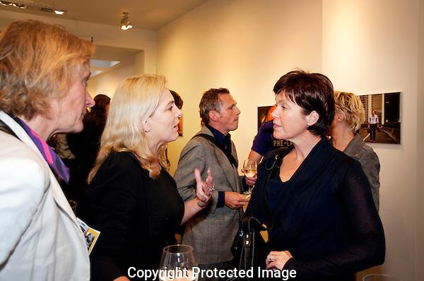 Utrecht,23 september 2010 .Nederlands FILM FESTIVAL.Anneke Blok en Willemien van Aalst bij.Jaap Vrenegoor opening.Galerie 10..Foto Lucia Guglielmetti