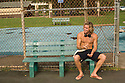 English Tom Lowe at the tennis court on the Northshore of Hawaii.