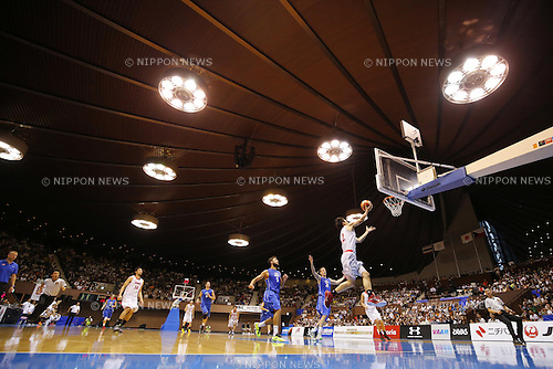 Kenta Hirose (JPN), AUGUST 15, 2015 - Basketball : International friendly match between Japan 65-54 Czech Republic at 2nd Yoyogi Gymnasium in Tokyo, Japan. (Photo by Yusuke Nakanishi/AFLO SPORT)
