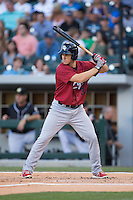 Cord Phelps (35) of the Lehigh Valley IronPigs at bat against the Charlotte Knights at BB&T BallPark on May 30, 2015 in Charlotte, North Carolina.  The IronPigs defeated the Knights 1-0.  (Brian Westerholt/Four Seam Images)