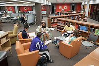 Students study for finals in the Academic Commons on Dec. 14, 2010. (Photo by Marc Campos, Occidental College Photographer)