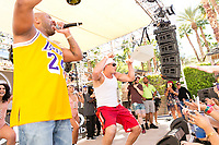 LAS VEGAS, NV - APRIL 29: Rob Gronkowski performs with Flo Rida at Rehab at The Hard Rock Hotel & Casino in Las Vegas, Nevada on April 29, 2017. Credit: GDP Photos/MediaPunch