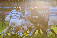 A general view of a maul between both forward packs. Rugby World Cup Pool C match between Argentina and Georgia on September 25, 2015 at Kingsholm Stadium in Gloucester, England. Photo by: Patrick Khachfe / Onside Images