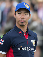 Apichet Srivaddhanaprabha (King Power) during the Cartier Queens Cup Final match between King Power Foxes and Dubai Polo Team at the Guards Polo Club, Smith's Lawn, Windsor, England on 14 June 2015. Photo by Andy Rowland.