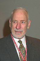 March 20 2003, Montreal, Quebec, Canada<br /> <br /> David Anderson, Canada's Environment Minister  at  the Opening plenary Session of Americana, a 3 days <br /> conference &amp; trade show on environement and waste management organized by Reseau Environnement, March 20 2003 in Montreal, Canada.<br /> <br /> Mandatory Credit: Photo by Pierre Roussel- Images Distribution. (&copy;) Copyright 2003 by Pierre Roussel <br /> <br /> NOTE : <br />  Nikon D-1 jpeg opened with Qimage icc profile, saved in Adobe 1998 RGB<br /> .Uncompressed  Original  size  file availble on request.