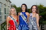 Shauna O'Sullivan, Katelyn Cashman and Juliette Clifford all Tralee who competed in the Miss Kerry competition in the Killarney Heights Hotel on Saturday night