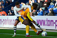 Preston North End's Alan Browne battles with Wigan Athletic's Cedric Kipre<br /> <br /> Photographer Richard Martin-Roberts/CameraSport<br /> <br /> The EFL Sky Bet Championship - Preston North End v Wigan Athletic - Saturday 6th October 2018 - Deepdale Stadium - Preston<br /> <br /> World Copyright &not;&copy; 2018 CameraSport. All rights reserved. 43 Linden Ave. Countesthorpe. Leicester. England. LE8 5PG - Tel: +44 (0) 116 277 4147 - admin@camerasport.com - www.camerasport.com