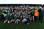Dundalk Young Irelands celebrate after they beat St Brigid's in the Leinster JFC. Photo:Colin Bell/pressphotos.ie