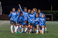 Boston, MA - Saturday September 30, 2017: Sky Blue FC starting eleven during a regular season National Women's Soccer League (NWSL) match between the Boston Breakers and Sky Blue FC at Jordan Field.