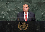 72 General Debate – 20 September <br /> <br /> His Excellency Abdrabuh Mansour Hadi Mansour, President of the Republic of Yemen