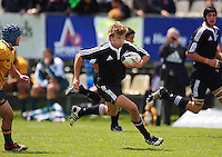 Rhys Llewellyn breaks during the International rugby match between New Zealand Secondary Schools and Suncorp Australia Secondary Schools at Yarrows Stadium, New Plymouth, New Zealand on Friday, 10 October 2008. Photo: Dave Lintott / lintottphoto.co.nz