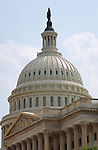 United States Capitol Dome, Senate Portico and Pediment, Capitol Hill, National Mall, Washington DC