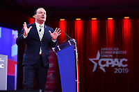 National Harbor, MD - February 28, 2019: Senator Mike Lee (R-UT)  speaks at the annual Conservative Political Action Conference (CPAC) held at the Gaylord National Resort at National Harbor, MD February 28, 2019.  (Photo by Don Baxter/Media Images International)