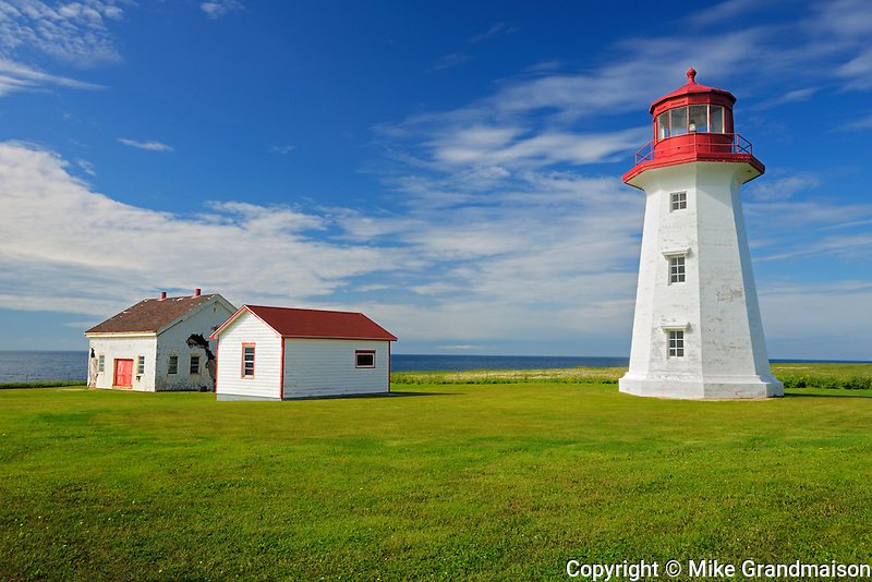 Lighthouse on Baie des Chaleurs<br /> Cap d'espoir<br /> Quebec<br /> Canada