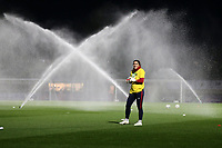 The sprinklers in use ahead of Arsenal Women vs Bristol City Women, FA Women's Super League Football at Meadow Park on 14th March 2019