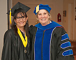 Sylvia Doioron, left, and Dr. Doris Dwyer prior to commencement at the Western Nevada College in Fallon, Nev., on Tuesday, May 20, 2014. <br /> Photo by Kim Lamb