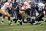 Seattle Seahawks  San Francisco 49ers  during the quarter at CenturyLink Field in Seattle, Washington on September 15, 2013. The Seahawks beat the 49ers 29-3. ©2013. Jim Bryant Photo. ALL RIGHTS RESERVED.