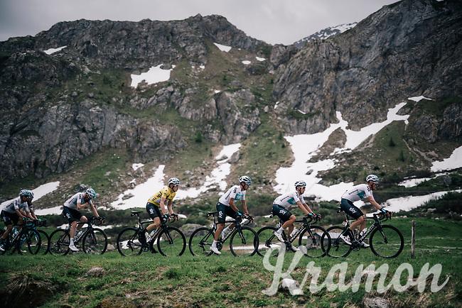 Team SKY dominantly escorting Geraint Thomas (GBR/SKY) towards final victory<br /> <br /> Stage 7: Moûtiers > Saint-Gervais Mont Blanc (129km)<br /> 70th Critérium du Dauphiné 2018 (2.UWT)