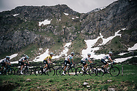 Team SKY dominantly escorting Geraint Thomas (GBR/SKY) towards final victory<br /> <br /> Stage 7: Moûtiers > Saint-Gervais Mont Blanc (129km)<br /> 70th Critérium du Dauphiné 2018 (2.UWT)
