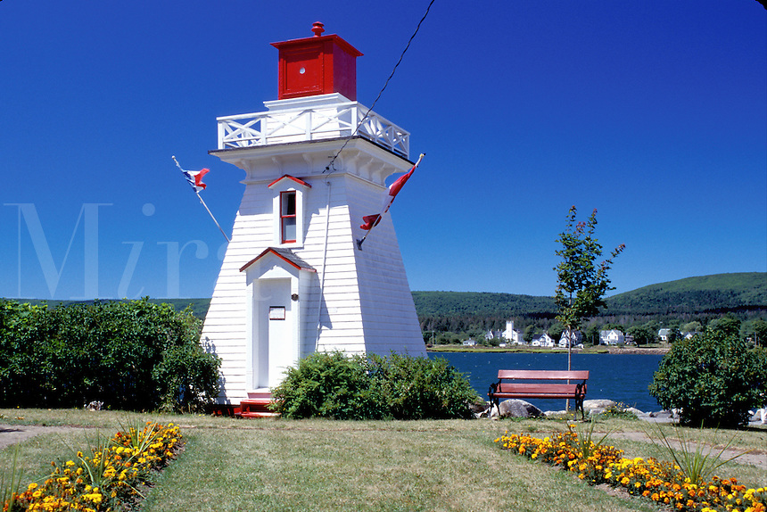 lighthouse, Nova Scotia, Annapolis Royal, NS, Canada, Historic lighthouse in a park along the Annapolis River in Annapolis Royal.