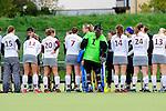 R&Uuml;SSELSHEIM, DEUTSCHLAND, NOVEMBER 03: Sonntagsspiel am 9. Spielwochenende in der Feldhockey 1. Bundesliga der Damen in der Saison 2013/2014. Begegnung zwischen dem R&uuml;sselsheimer RK (dunkelblau) und M&uuml;nchner SC(weiss) am 03. November, 2013 in R&uuml;sselsheim, Deutschland. Endstand 1-1 (0:0). (Photo by Dirk Markgraf/www.265-images.com)<br /> *** Local caption ***