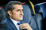 Coach Luis Ernesto Valverde Tejedor of FC Barcelona reacts prior to the UEFA Champions League 2017-18 quarter-finals (1st leg) match between FC Barcelona and AS Roma at Camp Nou on 05 April 2018 in Barcelona, Spain. Photo by Vicens Gimenez / Power Sport Images
