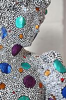 close up of a modern sculpture