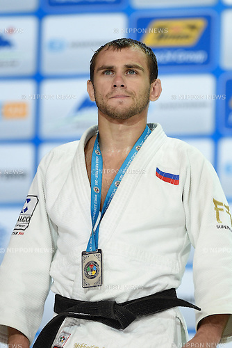 Mikhail Pulyaev (RUS), AUGUST 25, 2015 - Judo : World Judo Championships Astana 2015 Men's -66kg Medal Ceremony at Alau Ice Palace in Astana, Kazakhstan. (Photo by AFLO SPORT)