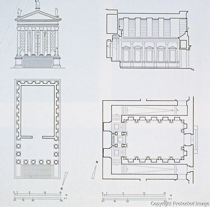 Maison Carrée architectural plans, elevations and floor plans