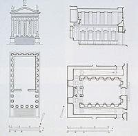 Maison Carrée architectural plans, elevations and floor plans