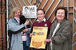 Hamper Presentation from St. Olivers first year Students to Drogheda Animal Rescue.  Sharon Kavanagh from St olivers with Lynda Hewitt and Deirdre Smyth from DAR...Photo NEWSFILE/Jenny Matthews.(Photo credit should read Jenny Matthews/NEWSFILE)....This Picture has been sent you under the condtions enclosed by:.Newsfile Ltd..The Studio,.Millmount Abbey,.Drogheda,.Co Meath..Ireland..Tel: +353(0)41-9871240.Fax: +353(0)41-9871260.GSM: +353(0)86-2500958.email: pictures@newsfile.ie.www.newsfile.ie.FTP: 193.120.102.198.