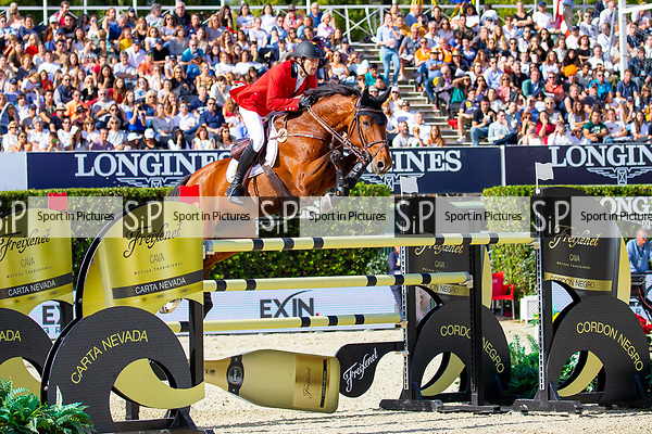 Winners. Team Belgium. Pieter Devos. BEL. Riding Claire Z. Final Competition Round   Longines FEI Jumping Nations Cup Final. Showjumping. Barcelona. Spain. Day 3. 07/10/2018. ~ MANDATORY Credit Elli Birch/Sportinpictures - NO UNAUTHORISED USE - 07837 394578