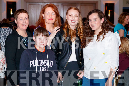 Pictured at Sickly Come Dancing, UHK, at Ballygarry House Hotel & Spa, Tralee on Friday night last, were l-r: Catherine O'Connell, Rory Kennedy, Martina Barry, Ciara Rogers and Gemma O'Connell.