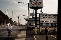 Ohio, Usa. Oktober 2016. Portsmouth, Ohio har vært episenter for narkotikaepidemien som har bredt om seg i det hvite Usa. Fotografier til dokument om valget i Usa og Appalachene. Foto: Christopher Olssøn