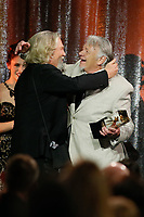 ASC Board of Governors Award honoree Jeff Bridges, left, accepts his award from his stand in and stunt double Loyd Catlett, right, at the 33rd annual ASC Awards and The American Society of Cinematographers 100th Anniversary Celebration at the Ray Dolby Ballroom at Hollywood &amp; Highland, Saturday, February 9, 2019 in Hollywood, California.  <br /> CAP/MPI/IS<br /> &copy;IS/MPI/Capital Pictures