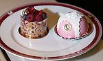 PARIS - FRANCE - 15 APRIL 2004--The fine food shop Fauchon at Place de la Madeleine. Cake on sale-- PHOTO: ERIK LUNTANG / EUP-IMAGES
