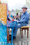 Mike Dowd tinkles the ivories for the crowds in Killorglin's Library Place for K Fest on Saturday.