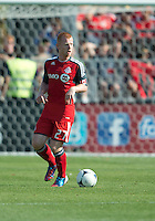 July 28, 2012: Toronto FC defender Richard Eckersley #27 in action during a game between Toronto FC and the Houston Dynamo at BMO Field in Toronto, Ontario Canada..The Houston Dynamo won 2-0.