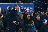 Swansea City manager Paul Clement during the Premier League match between Everton and Swansea City at Goodison Park, Liverpool, England, UK. Monday 18 December 2017