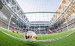 Stockholm 2014-07-28 Fotboll Superettan Hammarby IF - Assyriska FF :  <br /> Hammarbys Kennedy Bakircioglu har gjort 1-0 bakom Assyriskas m&aring;lvakt Robin Malmkvist  f&ouml;r Hammarby i den f&ouml;rsta halvleken <br /> (Foto: Kenta J&ouml;nsson) Nyckelord:  Superettan Tele2 Arena Hammarby HIF Bajen Assyriska AFF jubel gl&auml;dje lycka glad happy remote remotekamera