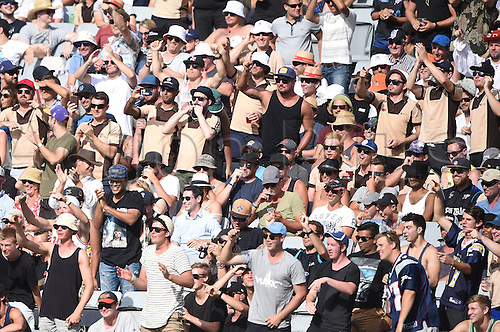 03.02.2016. Auckland, New Zealand.  Fans. New Zealand Black Caps versus Australia, Chappell Hadlee Trophy and ANZ ODI Cricket Series. Eden Park, Auckland, New Zealand.