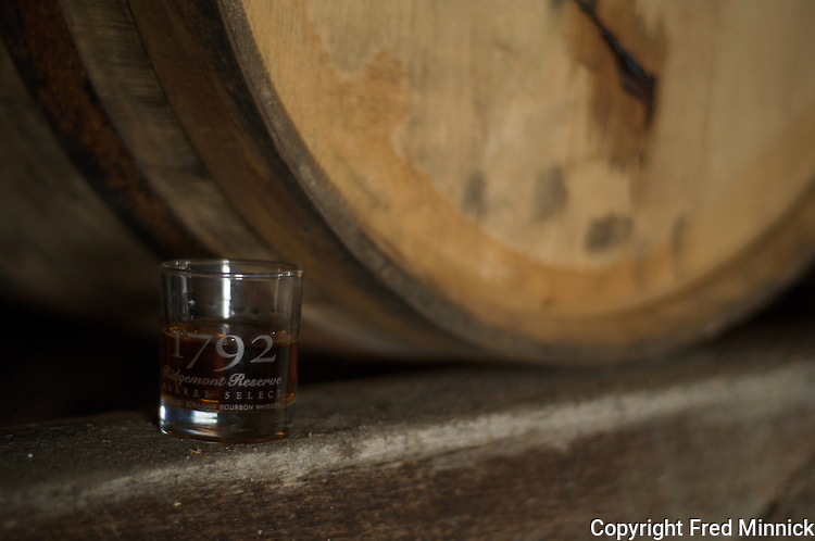1792 Ridgemont Reserve Bourbon at the Tom Moore Distillery in Bardstown, Ky.