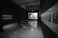"""Victims (on the screen) and nazi doctors (on the walls).<br /> <br /> Rome, 27/01/2019. Today is the International Holocaust Day, also called Holocaust Memorial Day in UK & Italy. A day designated by the UN General Assembly resolution 60/7 on 1 November 2005 to remember the victims of the Holocaust: 6 million Jews, 2 million Gypsies (Roma & Sinti), 15,000 homosexual people, and millions of others killed by the Nazi regime and its collaborators. The 27th of January (1945) marks the day of the liberation by the Soviet Union Army of the largest death camp, Auschwitz-Birkenau (74th Anniversary). To coincide with the Holocaust Memorial Day the Palazzo delle Esposizioni presents its last experiential exhibition called Witnesses of Witnesses. Remembering and Recounting Auschwitz. From the event website: <<Following a memory trip to Auschwitz, the heart of the devastating Shoah that rocked and shocked the 20th century, a group of students from various Rome high schools began to envisage a different way of recalling those horrific events. These boys' and girls' encounter with Studio Azzurro – a well-known Italian artists' collective involved in experimenting with the language of new media – has spawned """"Witnesses' Testimonials. Recalling and recounting Auschwitz,"""" the first experiential exhibition designed by students in an institutional space within the capital, to be experienced as an event that urges visitors to undertake a physical and mental journey to keep the memory of the story alive. […] A narrow space, which visitors are urged to enter, conjures up the cattle trucks used for deportation. The doors slide shut. In the darkness we hear the voices of Mussolini and Hitler, the frenzied chanting of the adoring crowds, and the insistent drumming of the train on the tracks. The doors open […]>>.<br /> For more info please click here: https://www.palazzoesposizioni.it/ & https://bit.ly/2RkbUTT"""