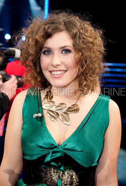 Contestant Maureen Vanherberghen at the first Idool 2011 live show in Lint (Belgium, 18/03/2011)