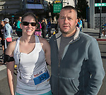 Megan Hanke and Chris Peterson during the Downtown River Run on Sunday, April 30, 2017 in Reno, Nevada.