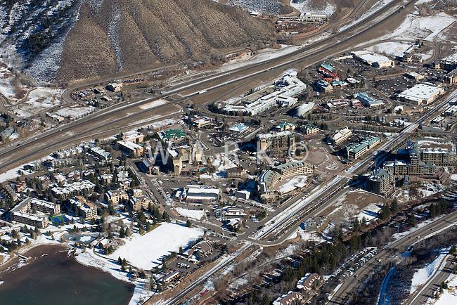 Aerial of Avon, Colorado.  Nov 2012