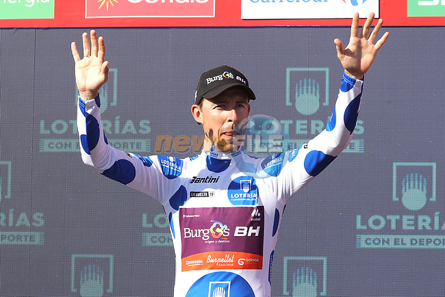 Angel Madrazo Ruiz (ESP) Burgos-BH retains the mountains Polka Dot Jersey at the end of Stage 15 of La Vuelta 2019  running 154.4km from Tineo to Santuario del Acebo, Spain. 8th September 2019.<br /> Picture: Luis Angel Gomez/Photogomezsport   Cyclefile<br /> <br /> All photos usage must carry mandatory copyright credit (© Cyclefile   Luis Angel Gomez/Photogomezsport)